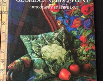 KAFFE FASSETT's Glorious Needlepoint Paperback 1992 by Kaffe Fassett and Steven Lovi