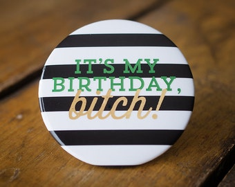 Birthday Party Jumbo Button Happy Birthday Party Planning Party Supplies Birthday Girl Celebration Party Decor gifts under 5