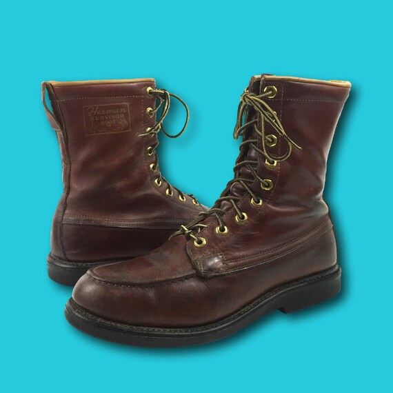 vintage 60s herman survivor brown leather by
