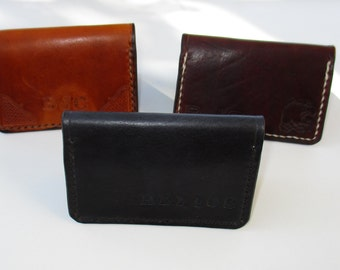 Business Card Holder, Leather Card Wallet.