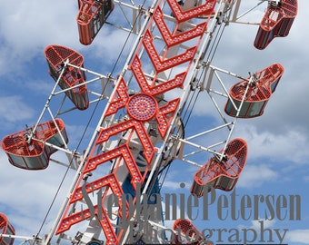 Stephanie Petersen Photography THE ZIPPER carnival ride color photograph color print