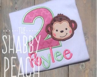 Monkey Birthday Shirt, Monkey Party Onesie, Monkey Outfit, Monkey Birthday, Girl Monkey Shirt