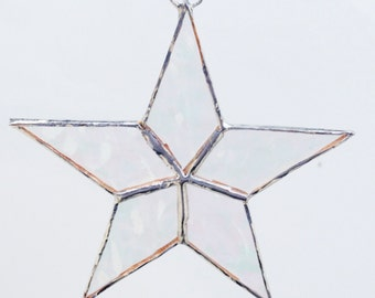Gorgeous Stained Glass Star Ornament! Hand made!  Suncatcher Christmas Decoration