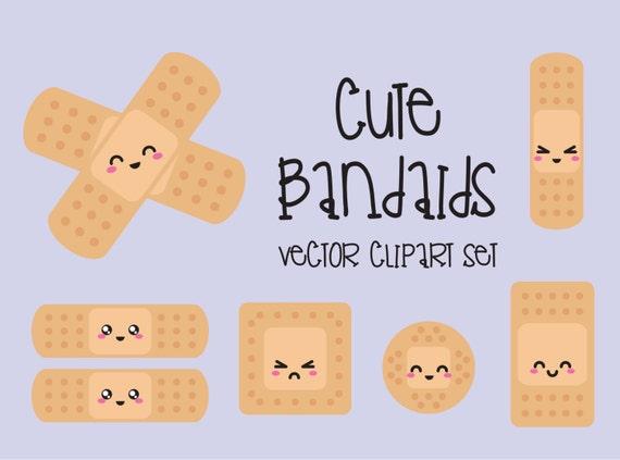 Premium Vector Clipart Kawaii Bandaids Cute Bandaids
