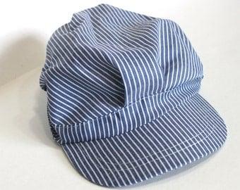 Train conductor hat, train engineer hat, train birthday party favor, train party prop, train party hat