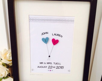 Personalised Wedding Gift Etsy : personalised wedding frames personalised wedding gifts personalised mr ...