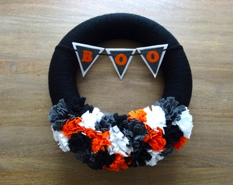 Halloween Felt Wreath, Felt Wreath, Halloween Wreath