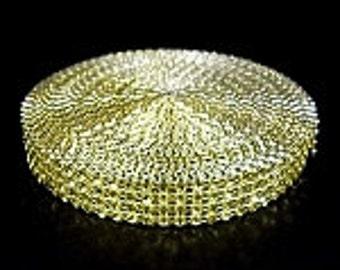 "GOLD diamond mesh ribbon 3/4"" x 30 foot roll DIY"