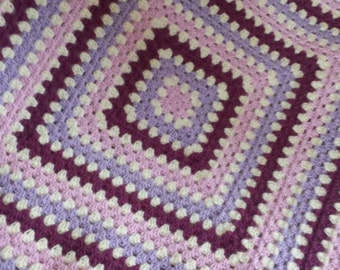 Crochet Granny Square Baby Blanket-Blossom-Made To Order