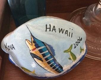 Hawaii painted coconuts