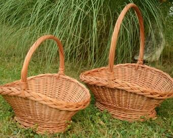 Oval Wicker Basket, Elegant Flower Basket, Wedding Basket, Display Basket, Oval Willow Basket, Handwoven Wicker Basket, Gathering Basket