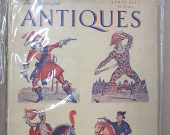 """Vintage """"The Magazine Antiques"""" April 1943.. XLIII, No.4"""