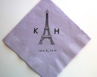 Eiffel Tower Wedding Napkins - Set of 50