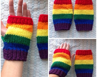 Lesbian and Gay Pride Fingerless Mitts