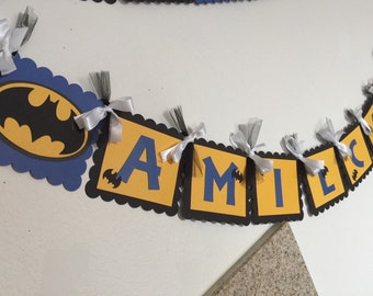 Batman birthday banner (name and age included)