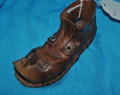 Boot with MOUSE on Toe Carved WOODEN