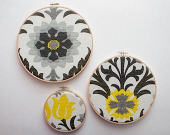 40% OFF - nursery wall art, hoop, fabric, wall decor, wall hanging, fabric wall art, embroidery hoop art, embroidery fabric, wall art
