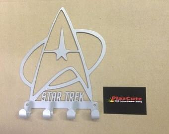 STAR TREK Key Rack CNC Plasma cut with a Choice of Colours.
