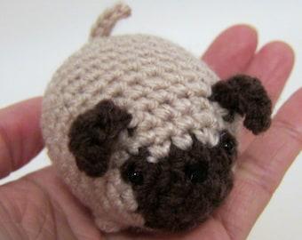 Bubble Pug Dog - Crochet Amigurumi Gift, Toy - finished product