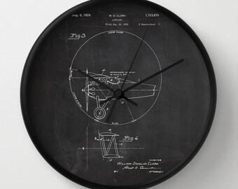 Clock, Clock Patent, Patent Clock, Modern Clock, Airplane Clock, The original airplane patent, pilot clock
