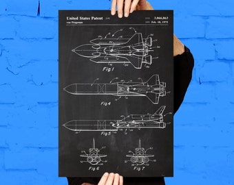 NASA Space Shuttle Print, NASA Space Shuttle Poster, NASA Space Shuttle Patent, Nasa Space Shuttle Blueprint, Nasa Space Shuttle Art