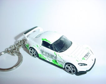3D TEIN Honda S2000 custom keychain by Brian Thornton keyring key chain finished in white color trim