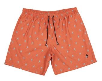 ON SALE Orange The Hound Men's Swimwear / Swim Trunks / Surf Swim Briefs / Mens Clothing