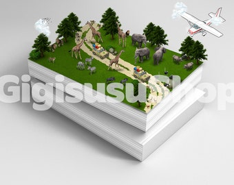 Closed Book with 3d Isometric Elements