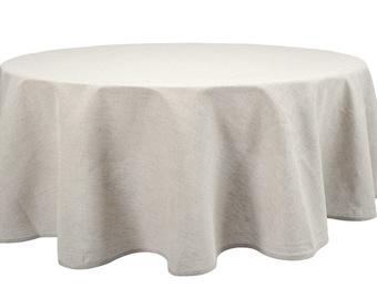 Natural Linen Tablecloth, Pure Linen Table Cover, Gray Linen Tablecloth, Round  Tablecloth,