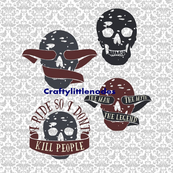 I Ride So I Dont Kill People The Man The Myth The Legend SVG STUDIO Ai EPS Scalable Vector Instand Download Commercial Use Cutting FIle