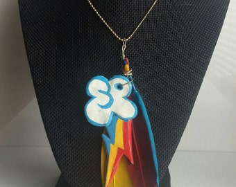 Rainbow Dash Cutie Mark Necklace - 1pc with chain