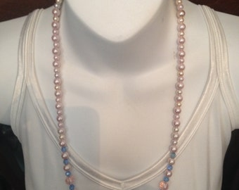 Pink/blue necklace