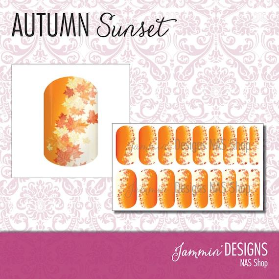 Autumn Sunset NAS (Nail Art Studio) Design