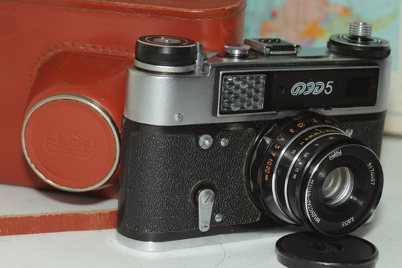 FED 5 Soviet Rangefinder Camera Industar-61L/D Lens Leica copy russian И