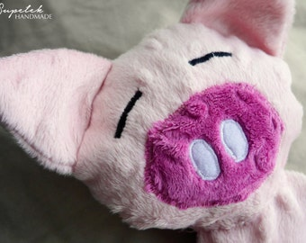 Piggy, comforter, sensory toy, taggy - MADE TO ORDER