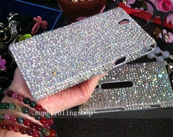 New Bling Luxury Mixed AB Diamonds Lovely Fashion Sparkles Charms Glossy Jewelled Crystals Rhinestones Gems Hard Cover Case for Mobile Phone