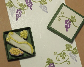 Grape Rubber Stamp