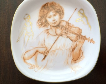 ALLEGRO by EDNA HIBEL ,Hutshenreuther Germany Plate,Dcorative Plate,Pottery Plate,Ceramic Plate,Limited Edition Plate