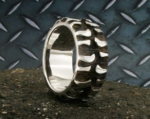 Unique Tire Tread Ring Related Items Etsy