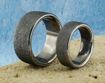 wedding band solid spakle sterling silver black silver plated bn004d - Mud Tire Wedding Rings