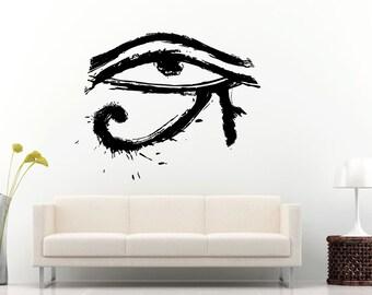 Egyptian Ancient Eye Of Horus Wall Decal Vinyl Sticker Mural Room Decor L937