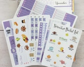 November (EC color themed) Planner Kit (Horizontal Layout)