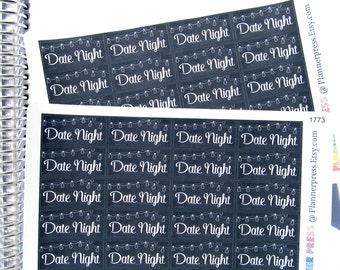 Romantic Date Night Lights Planner Sticker for Erin Condren Life Planner (ECLP) Reminder Sticker 1773