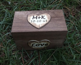 Personalized Rustic Recipe Box - Wedding Gift - Christmas Gift