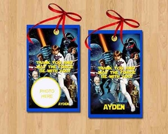 Star Wars Thank You Tags, Star Wars Favor Tags. Star Wars Gift Tags. Digital (you print)