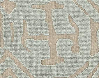 POLLACK ASIAN CHINOISERIE Medallions Cut Velvet Fabric 10 Yards Spa Blue