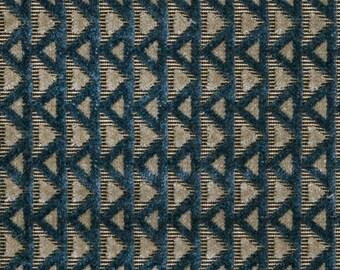 POLLACK MOSAIC Plush Cut Velvet Art Deco Nouveau UPHOLSTERY Fabric 5 Yards Water Wheel