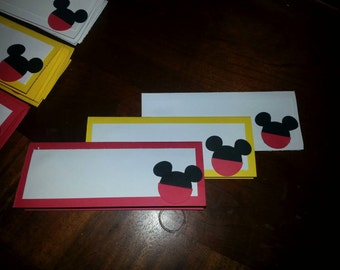 Mickey Mouse Table Cards-12 total