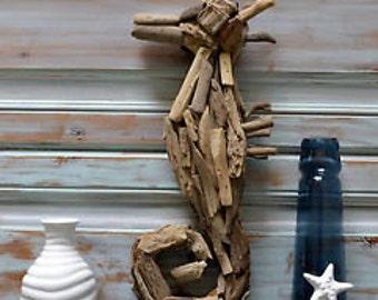 Driftwood Seahorse, Nautical Decor