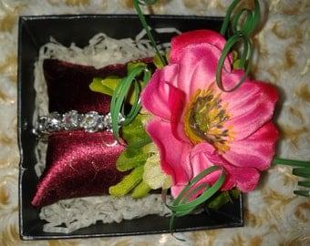 Pink Flower Diamante Bracelet